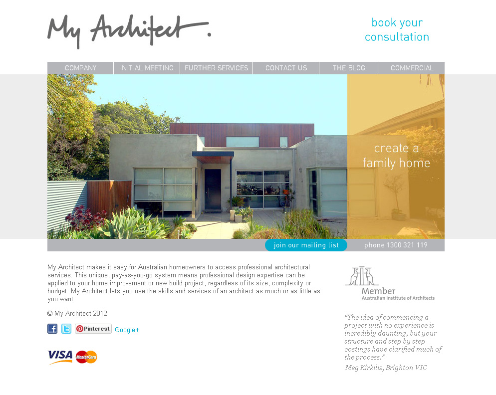 Small business website for architect business web design for Architectural websites